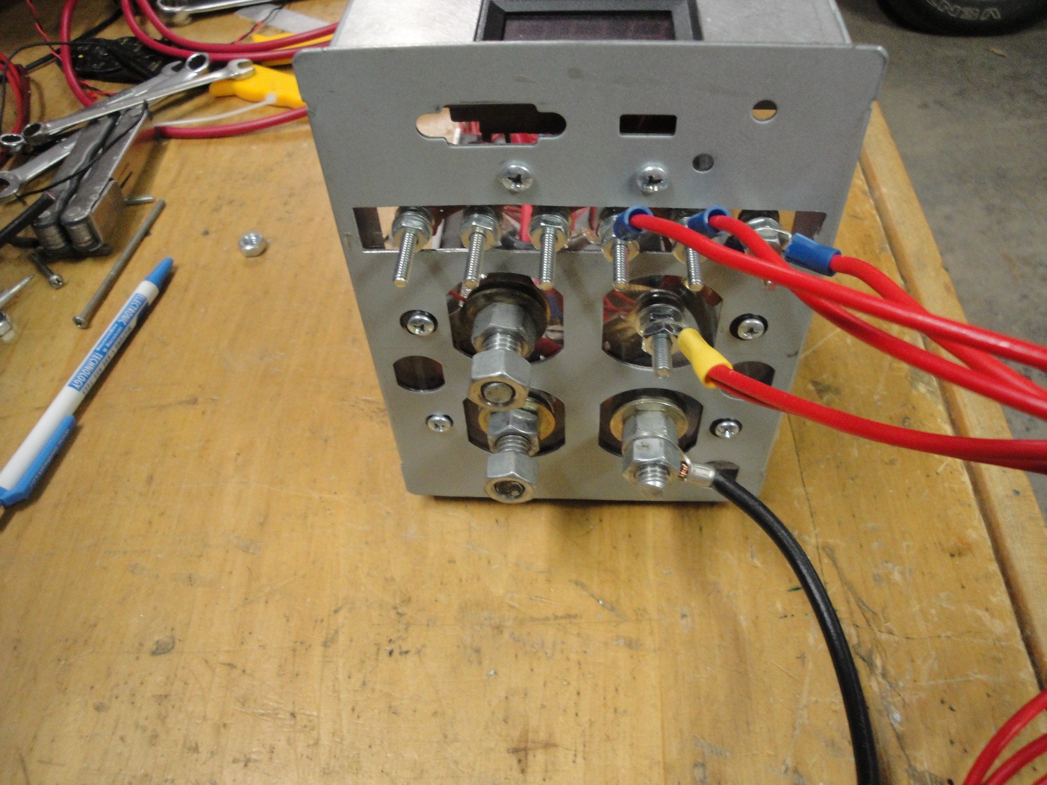 12v Battery Tester In The Above Circuit You See A Relay Red Square And Multiple Wires Were Ran To Different Loads Of Heater Coil Picture These Then Wired Up Into Controller Box