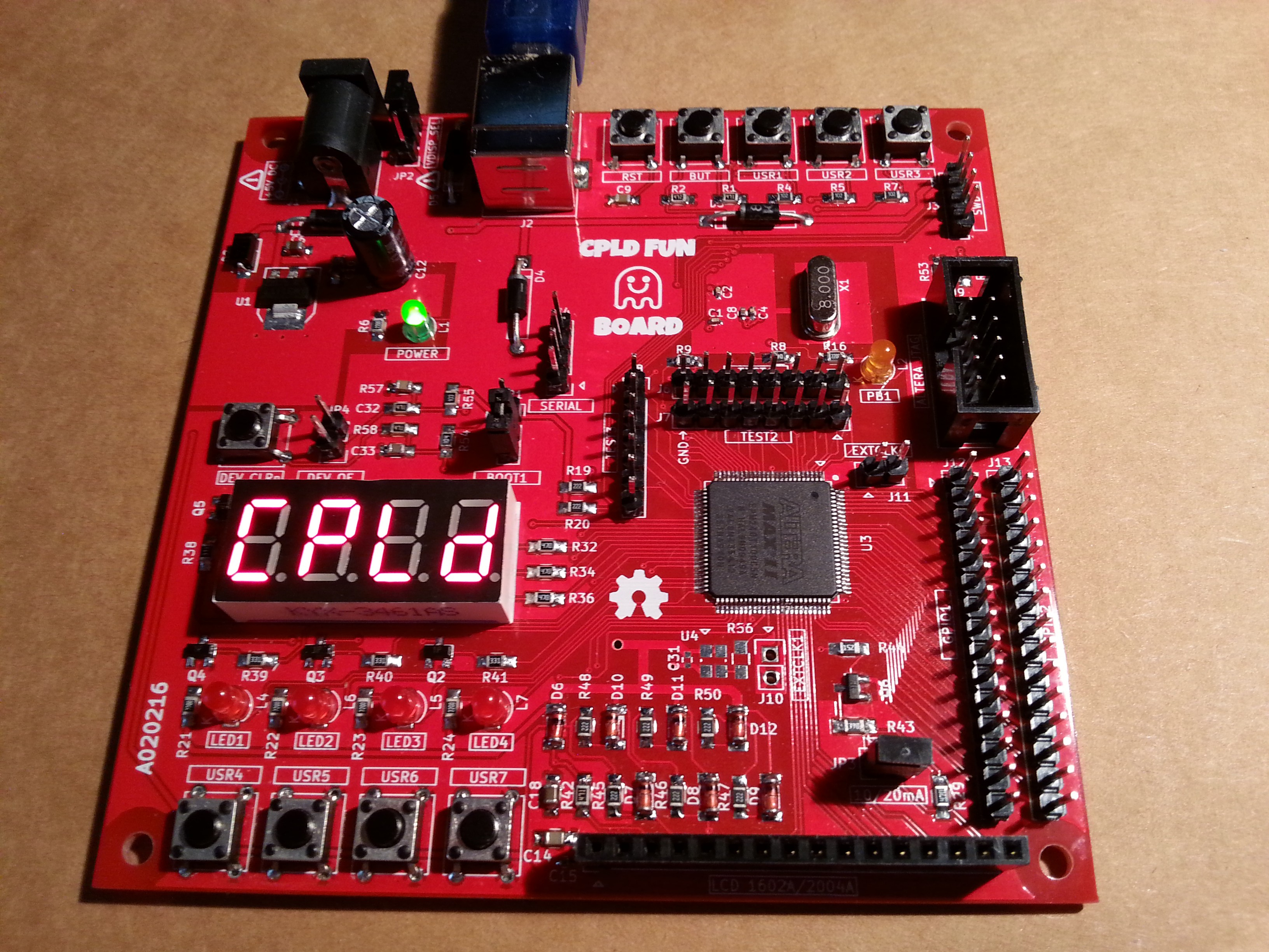 Arduino Cpld Fun Board Custom Circuit Cost The In Action