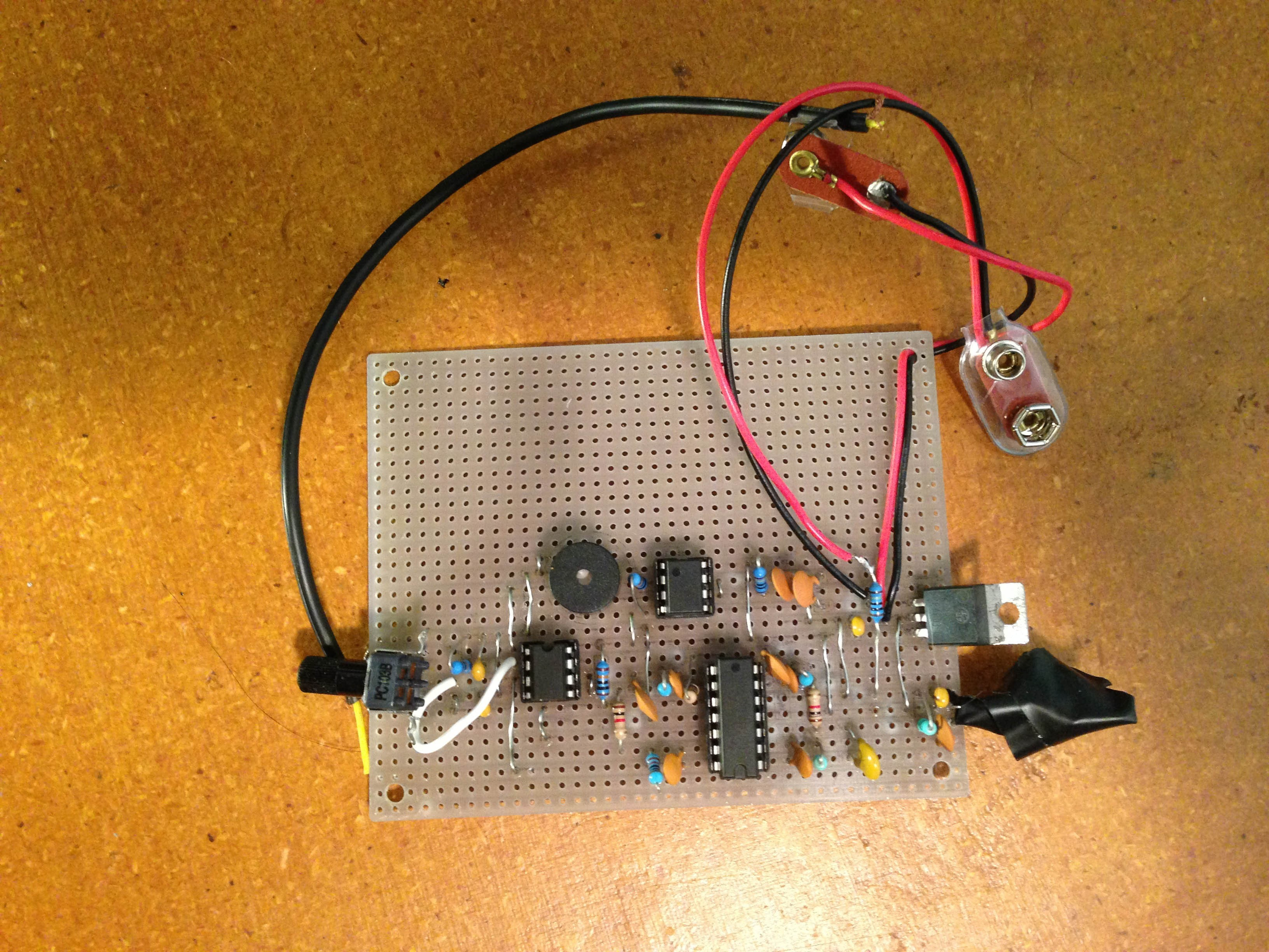 Low Cost Solid State Cosmic Ray Observatory Circuit Project Simple Lightning Detector However Im Ordering A New Op Amp Which Should Get The Working And Beeping