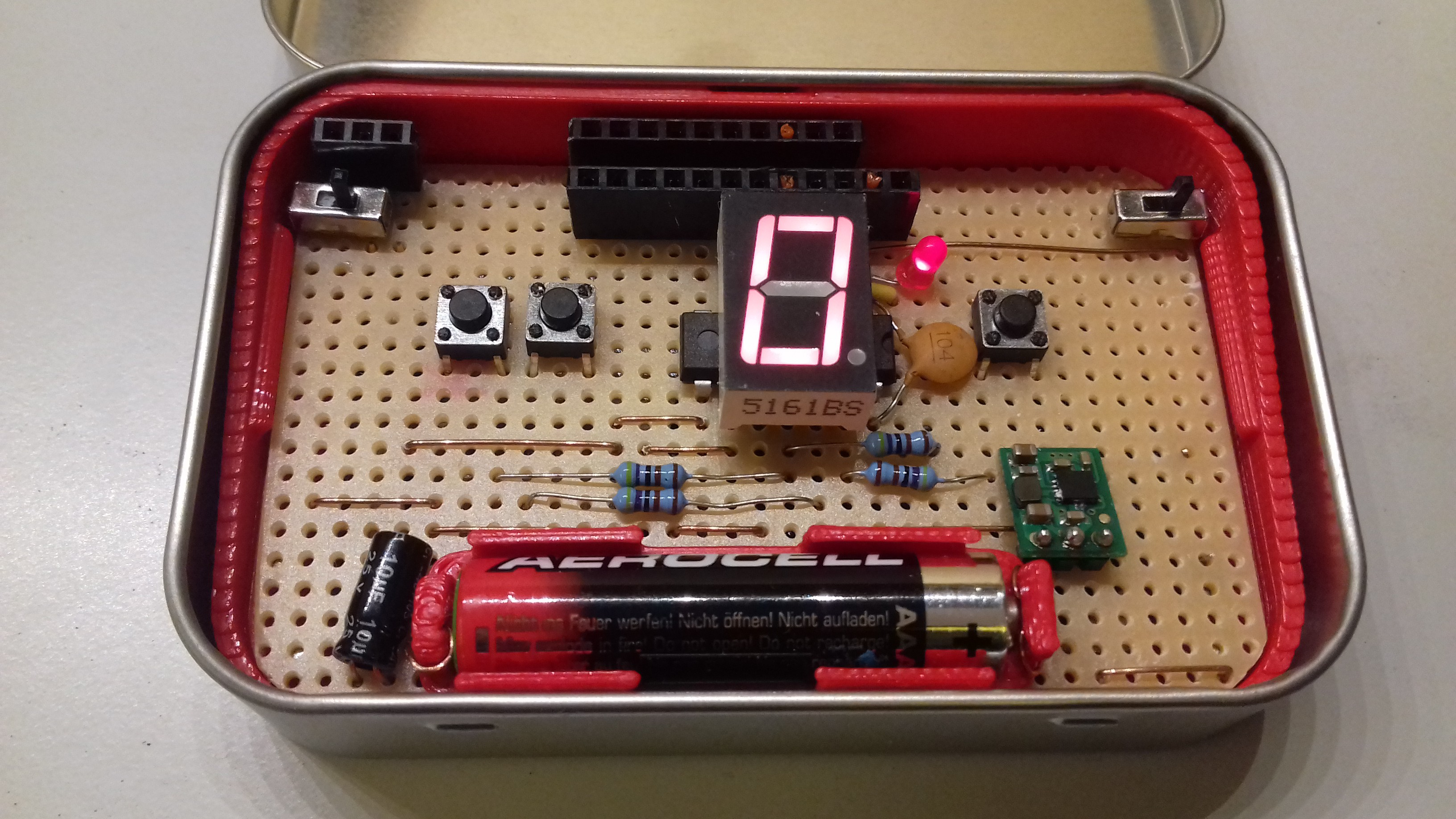Project Fatcat Altoids Tin Mod Tracker Diy Pcb How To Create Your Printed Circuit Board O Hackadayio As Discussed Previously The Major Change With This Build Is That Ive Hidden Speaker Below I Also Added An Extra Pin Header Top Left For