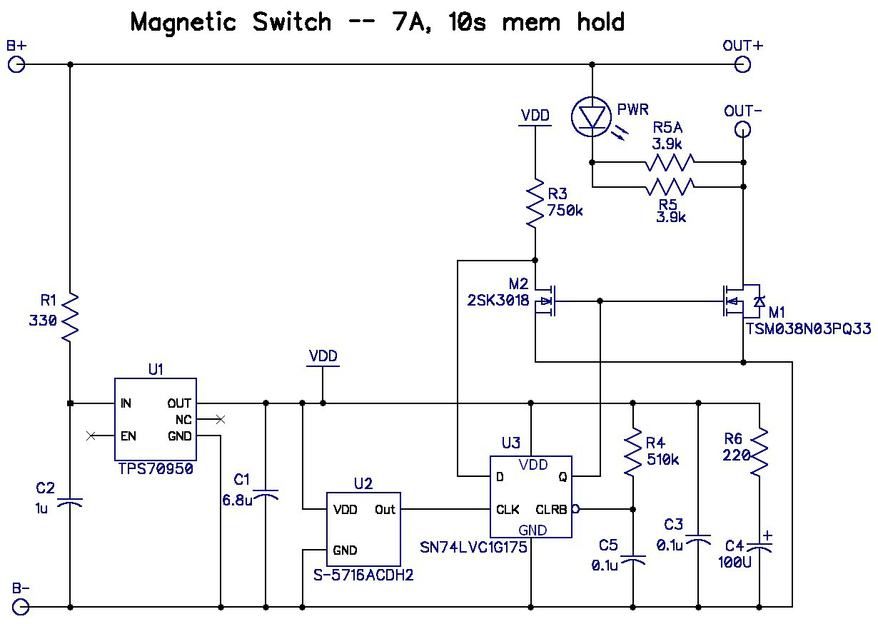 Magnetic Switches For Rc Aircraft Typical Hall Effect Sensor Wiring Details Image High Current Switch Specs