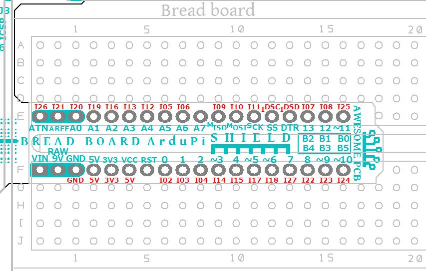 ArduPiShield_AwesomePCB_Breadboard