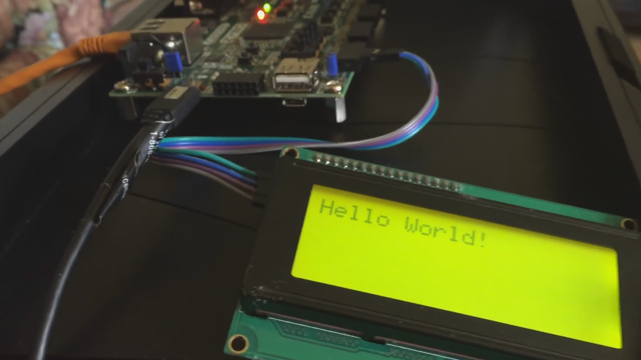 AXI Display Core driving VGA Interface! | Details | Hackaday io