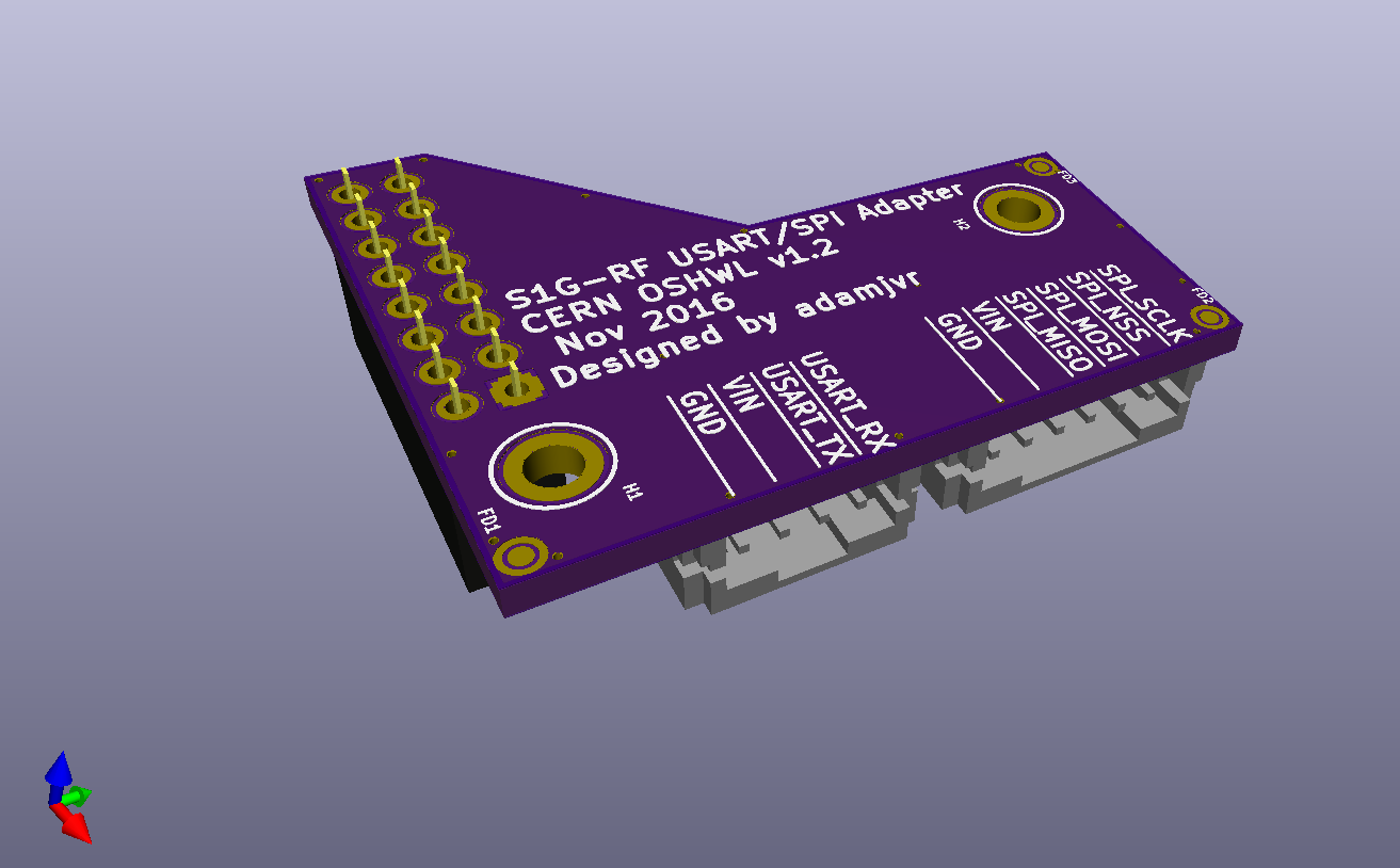 S1g Rf Sub 1ghz Radio Modules 915mhz And 433mhz Ism Transceiver Module The Pcb Press Fits Ontop Of Can Be Screwed Down I Am Going To Design Some 3d Printable Spacers Standoffs Sit Between Both Pcbs