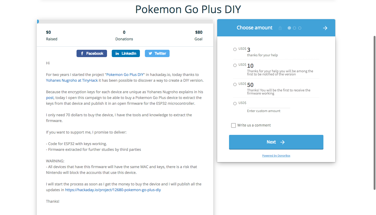 Pokemon Go Plus DIY | Hackaday io