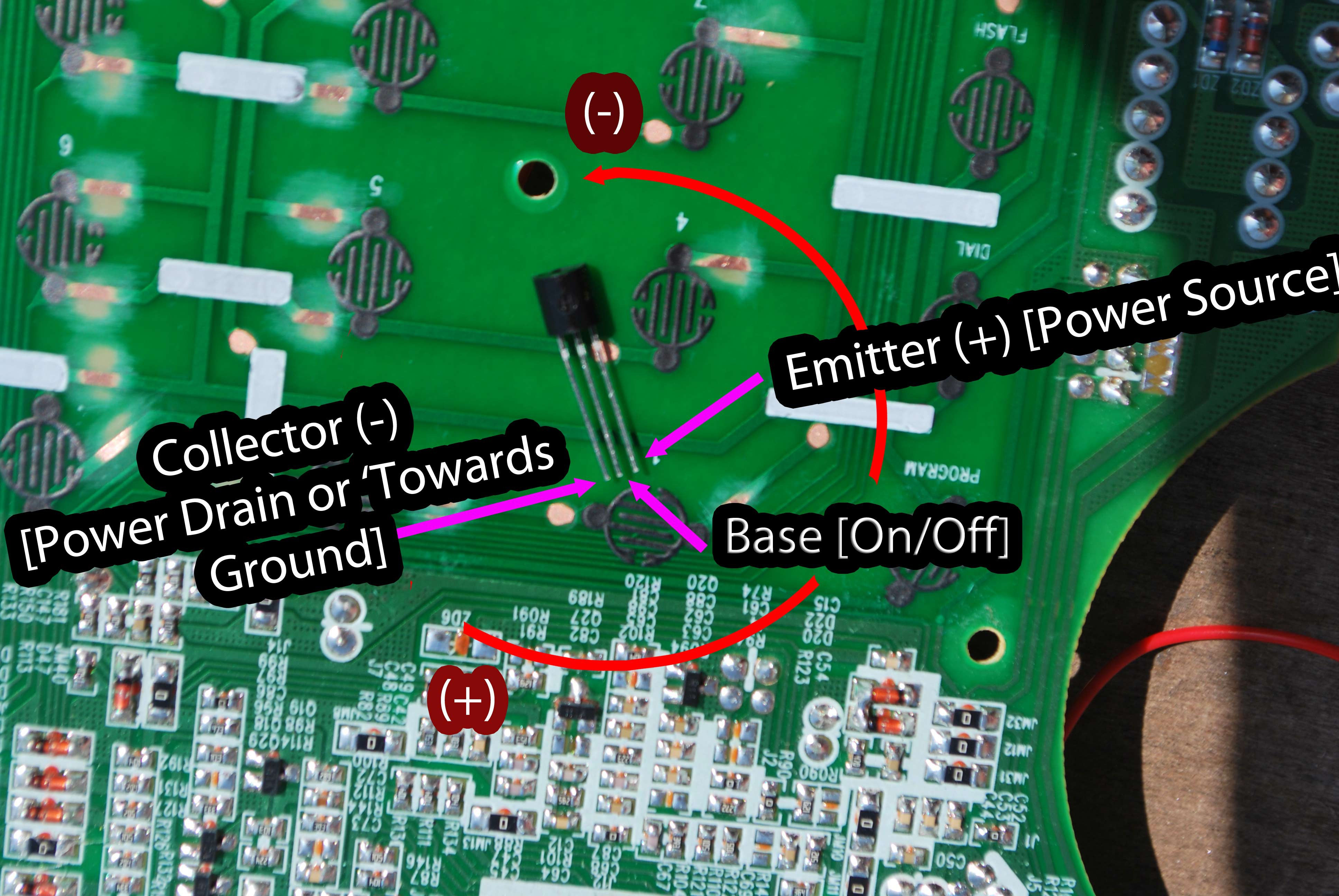 Transistor Placement Details Regulator 33v 1a With Pnp Electronic Projects Circuits Remember That Any Through Hole Will Have A Rounded Side And Flat Allows Us To Establish Which Pin Is Ie Left Right Thus