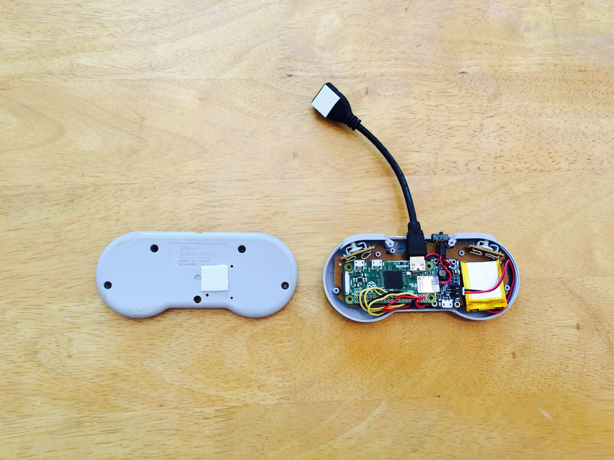 gallery raspberry pi zero inside an snes controller hackaday io