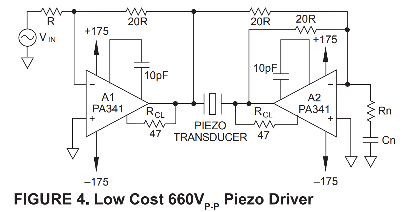 Playing With Power Ultrasonics You Need To Know About Piezoelectric Ultrasonic Transducer Circuit This Balanced Driver Pushes 660v At 60 Ma Continuous Means I Can Just Take An Ebay Ad9851 Dds Source And Push That Out Sadly Doesnt Get Me