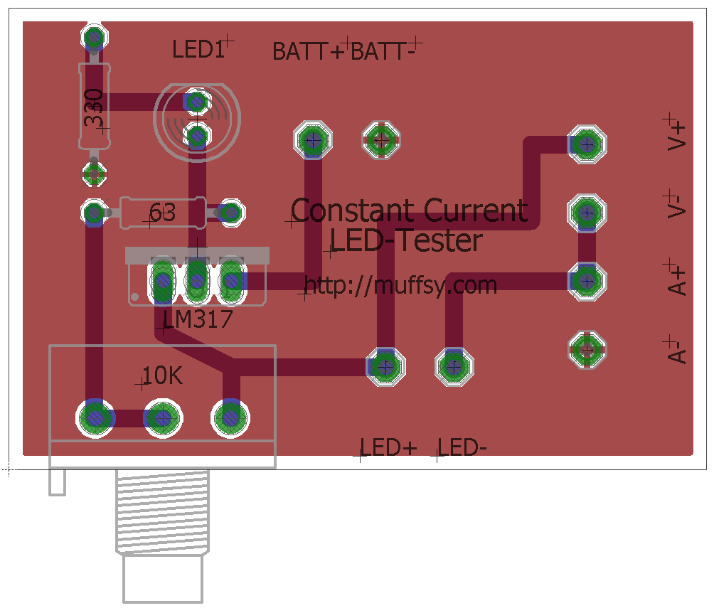 Muffsy Constant Current Led Tester Lm317 Calculator Applications Circuits The New Design Has Been Uploaded To Files Section Of This Project Zip File Tester3zip Contains Eagle And Gerbers