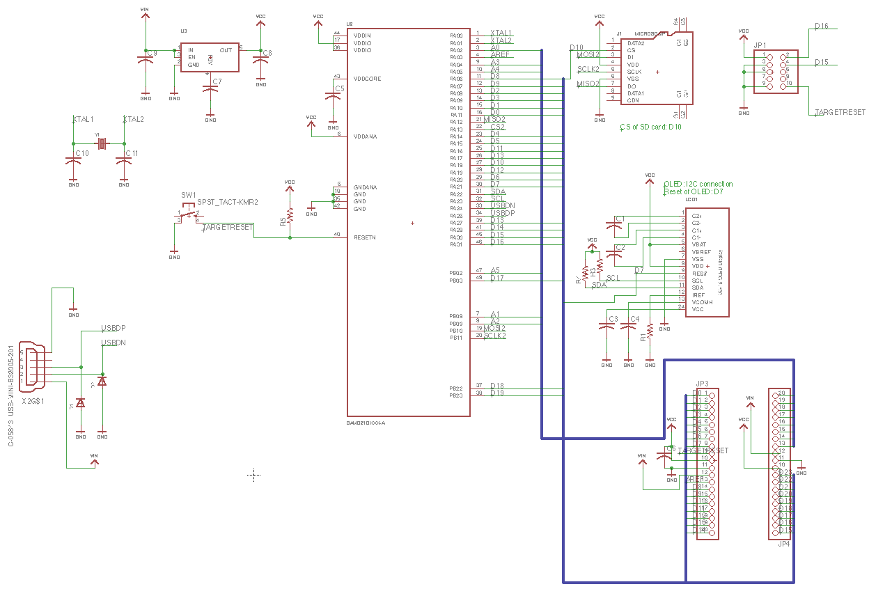 Here is the schematic of board