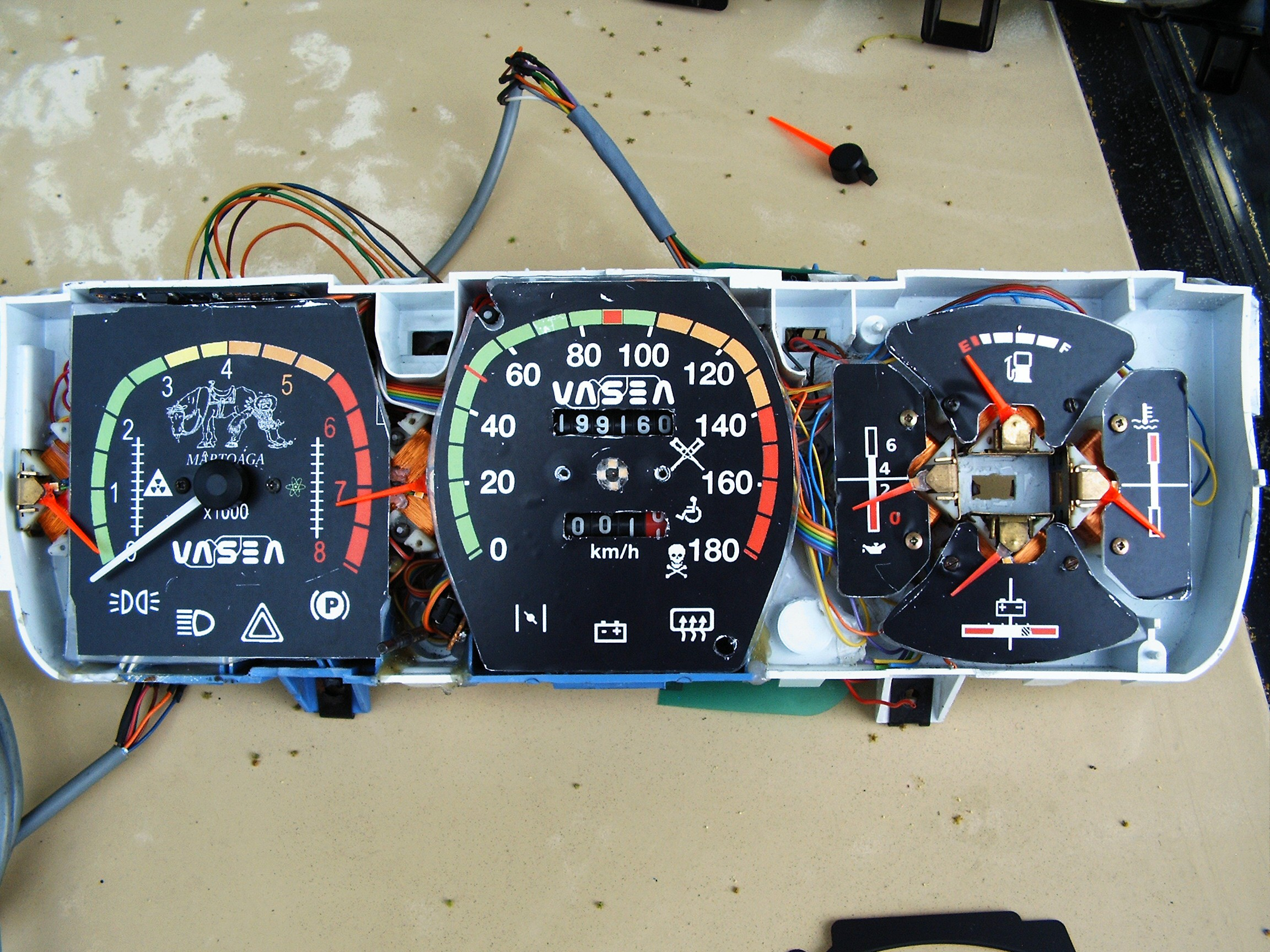 Rebuilding Gauges And Dials Details Led Rpm Meter Circuit Diagram For Automobiles Notice The Leds In Middle Of Speed Dial Under Pointer