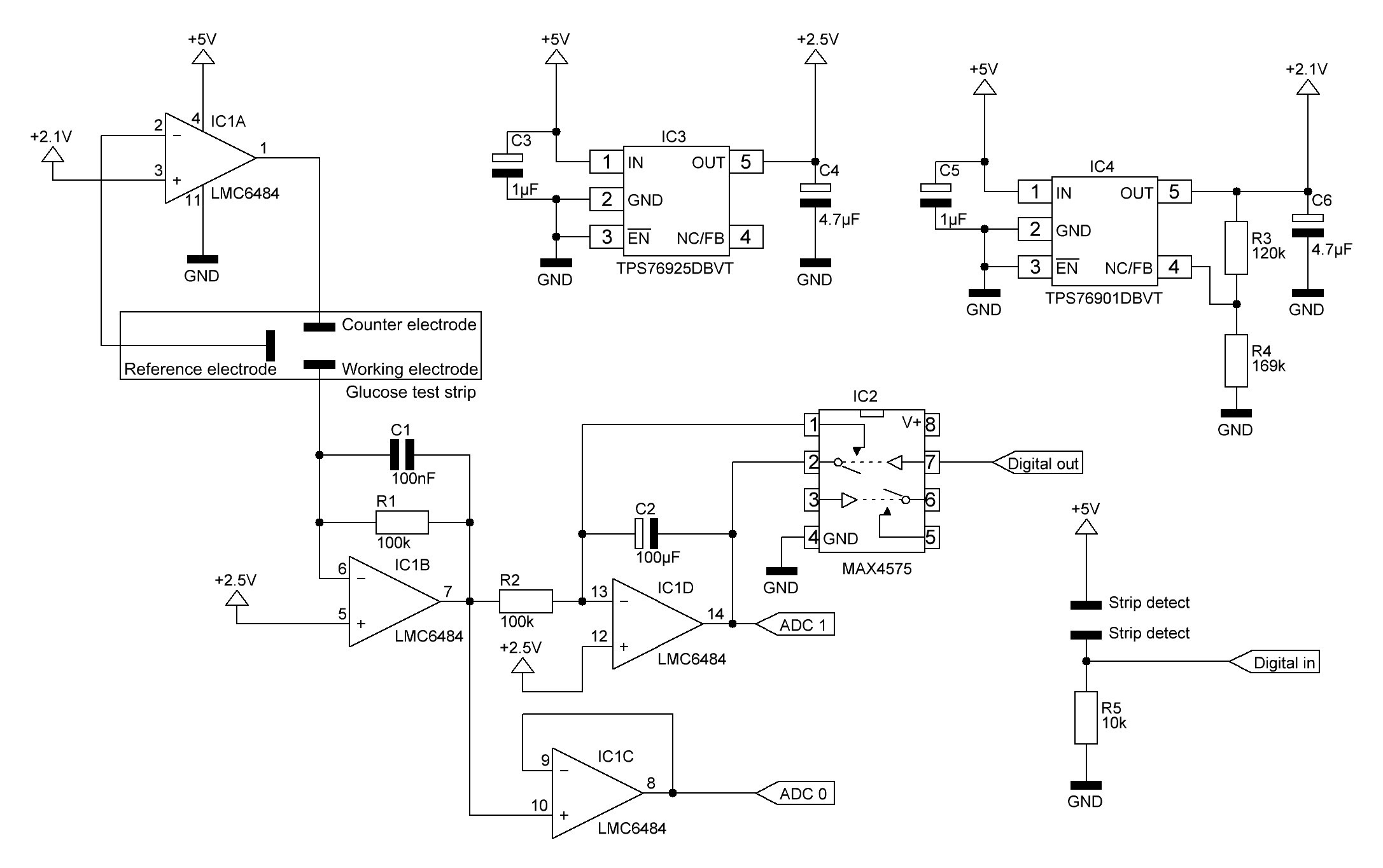 Open Source Arduino Blood Glucose Meter Shield First Heres A Schematic Of The New Circuit Here Is Draft