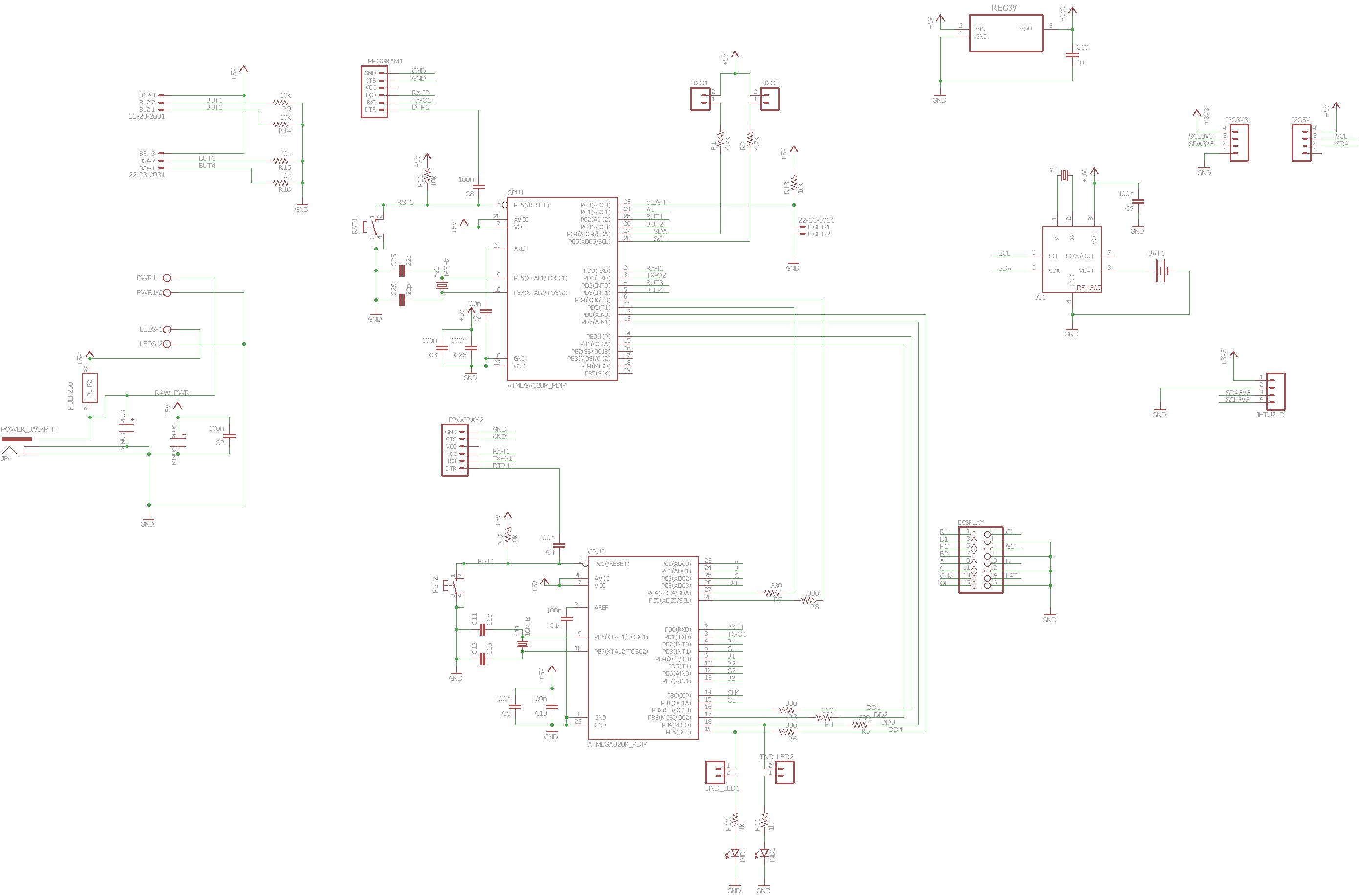 16x32 RGB LED Matrix Clock | Hackaday io
