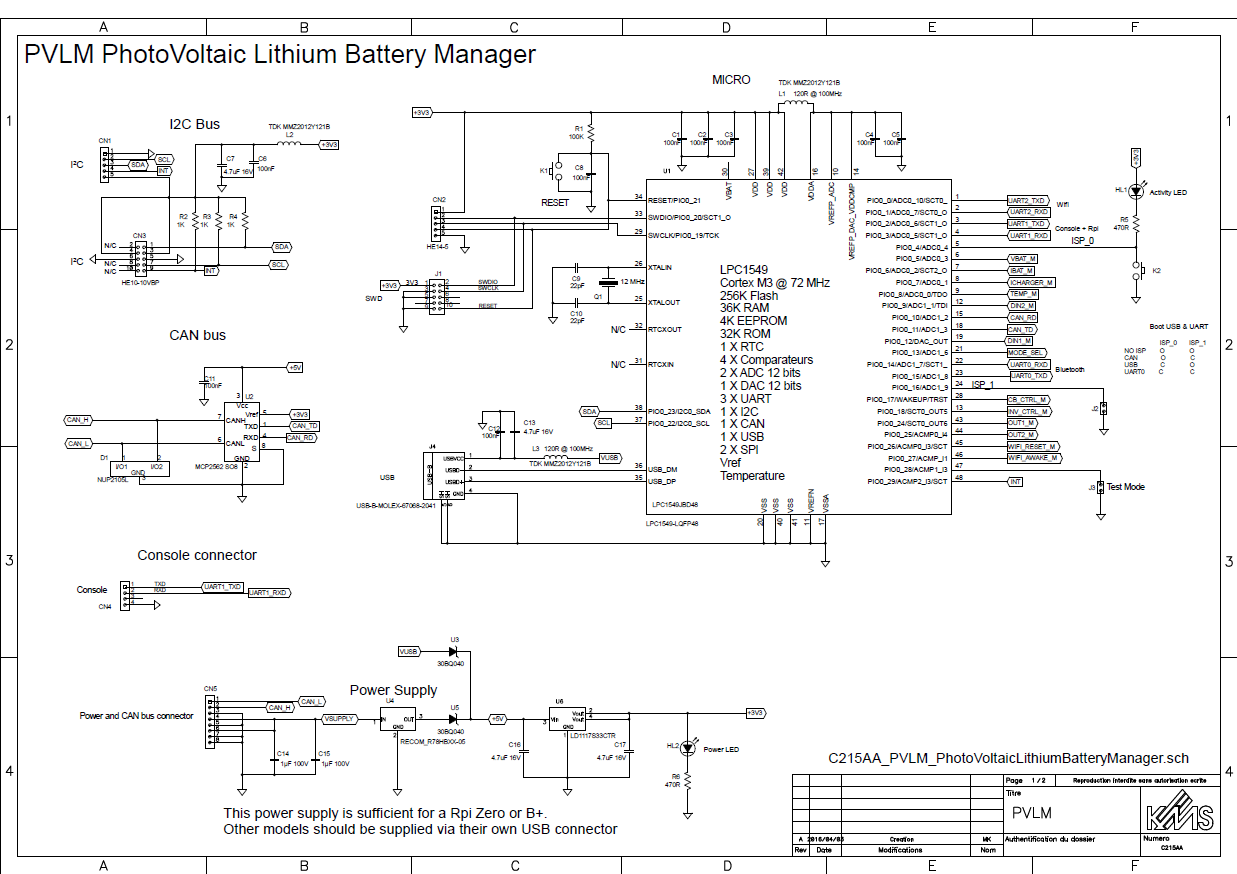 BMS Main module: schematic captured | Details | aday.io Raspberry Pi Schematic on