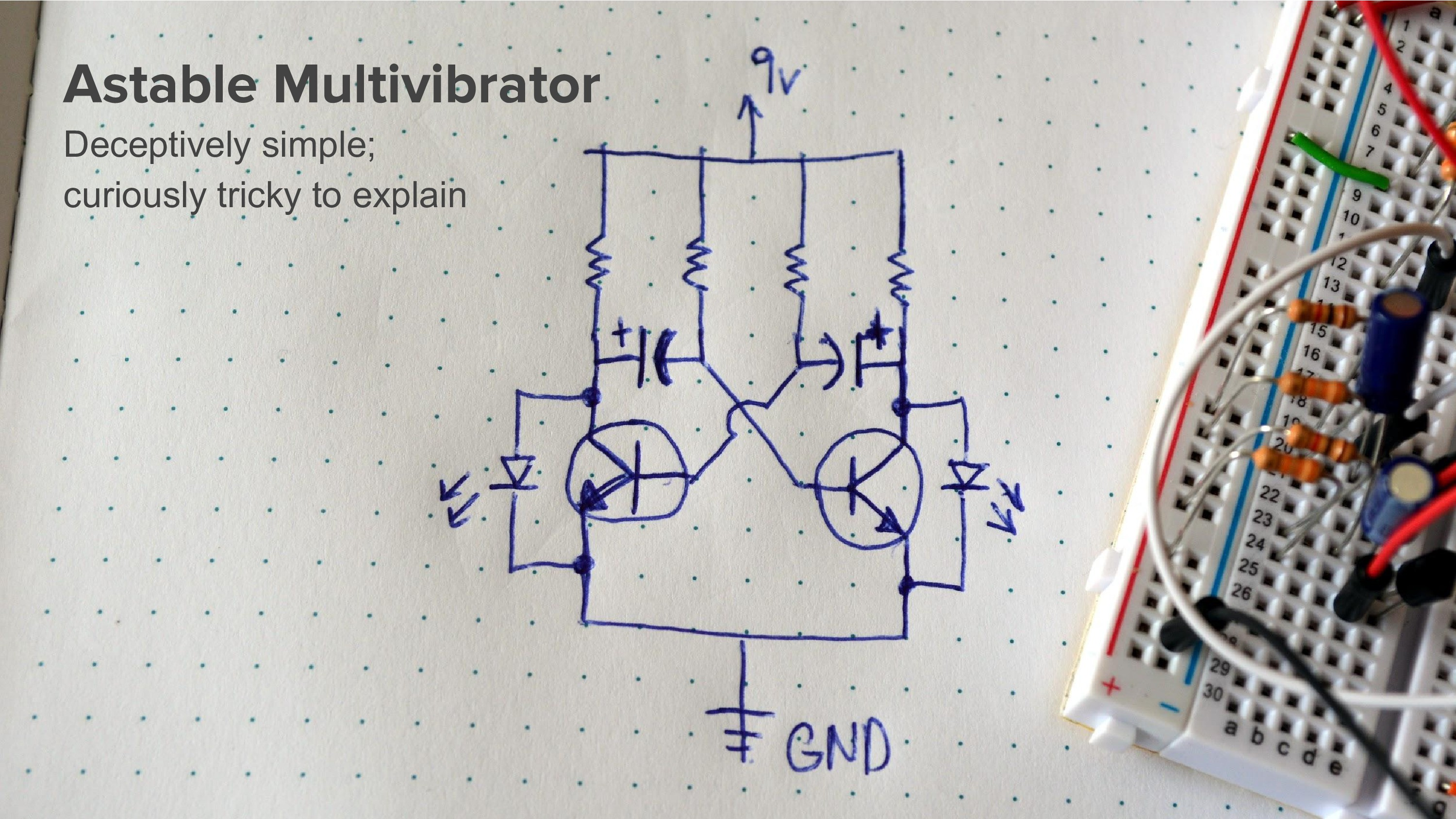 Uncon Talk Discrete D Flip Flops This Is A Diode Transistor Logic Dtl Nand Gate Circuit Using Bipolar I Started By Building The Classic Astable Multi Vibrator Which Uses Pair Of Transistors Each With An Rc Time Constant To Alternately Blink Leds