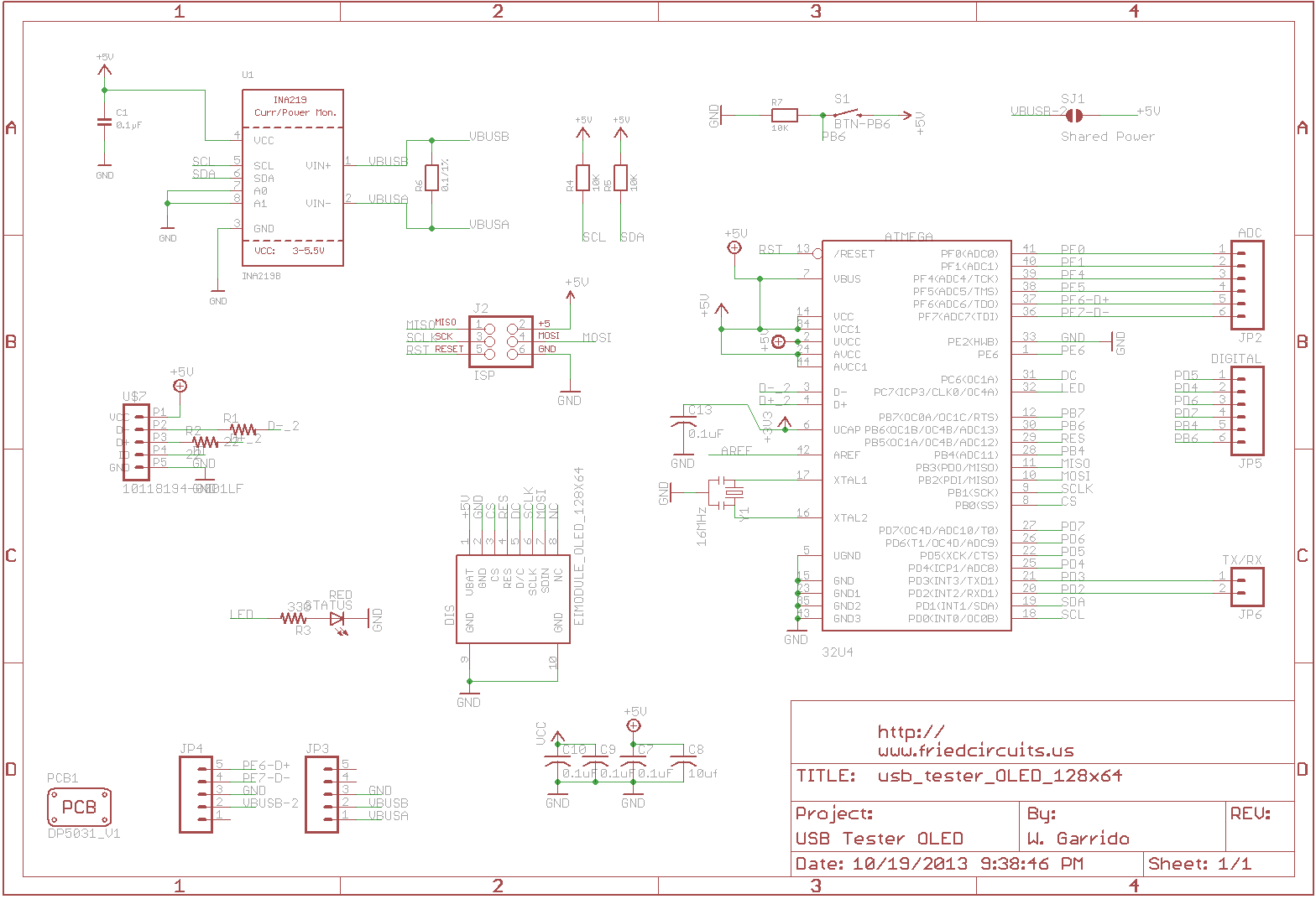 Schematic And Board Images Details Usb Here Are Of The Schematics For Tester Oled Backpack