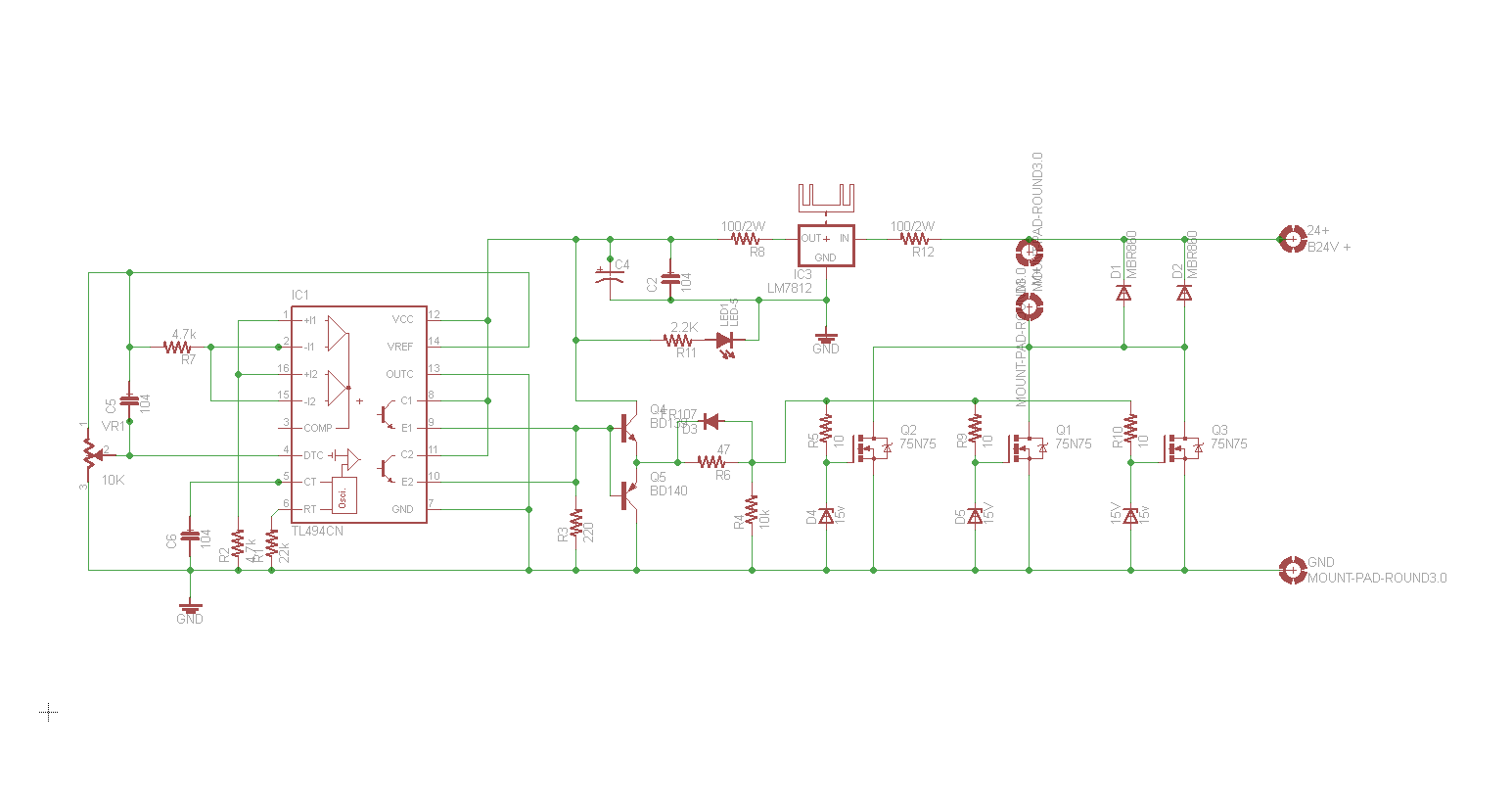 24v 5a Power Supply Circuit Diagram 220v To 15a Psu 750w Dc Motor Speed Control Firts Test 15