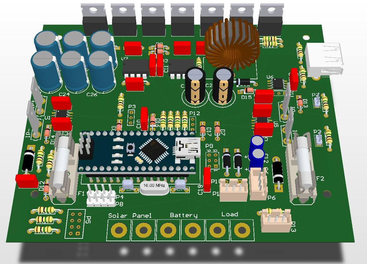 Arduino Mppt Solar Charge Controller 6v Battery Charger Circuit Electronic Projects The Drive Circuitry Common To All 3 Versions Will Use Separate Ir2104 Driver Chips One For Each Of Q1 Q2 And Q3 We Drivers From
