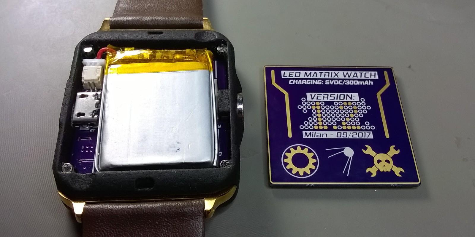 LED Matrix Watch   Hackaday io