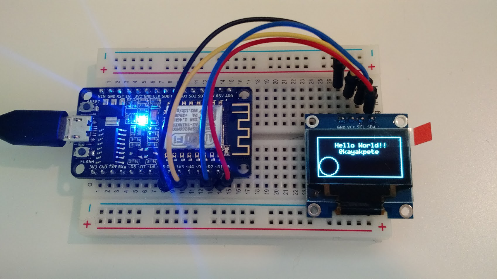 ESP8266 + OLED Display | Hackaday io