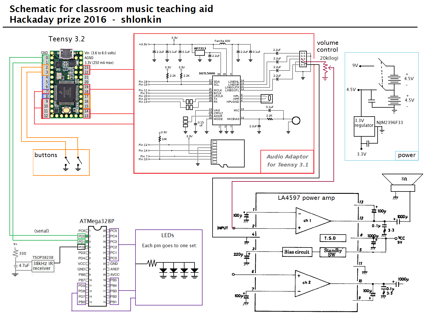 Project Classroom Music Teaching Aid Heres A Wiring Diagram That I Used To Help Me Please Note And An Updated Basic