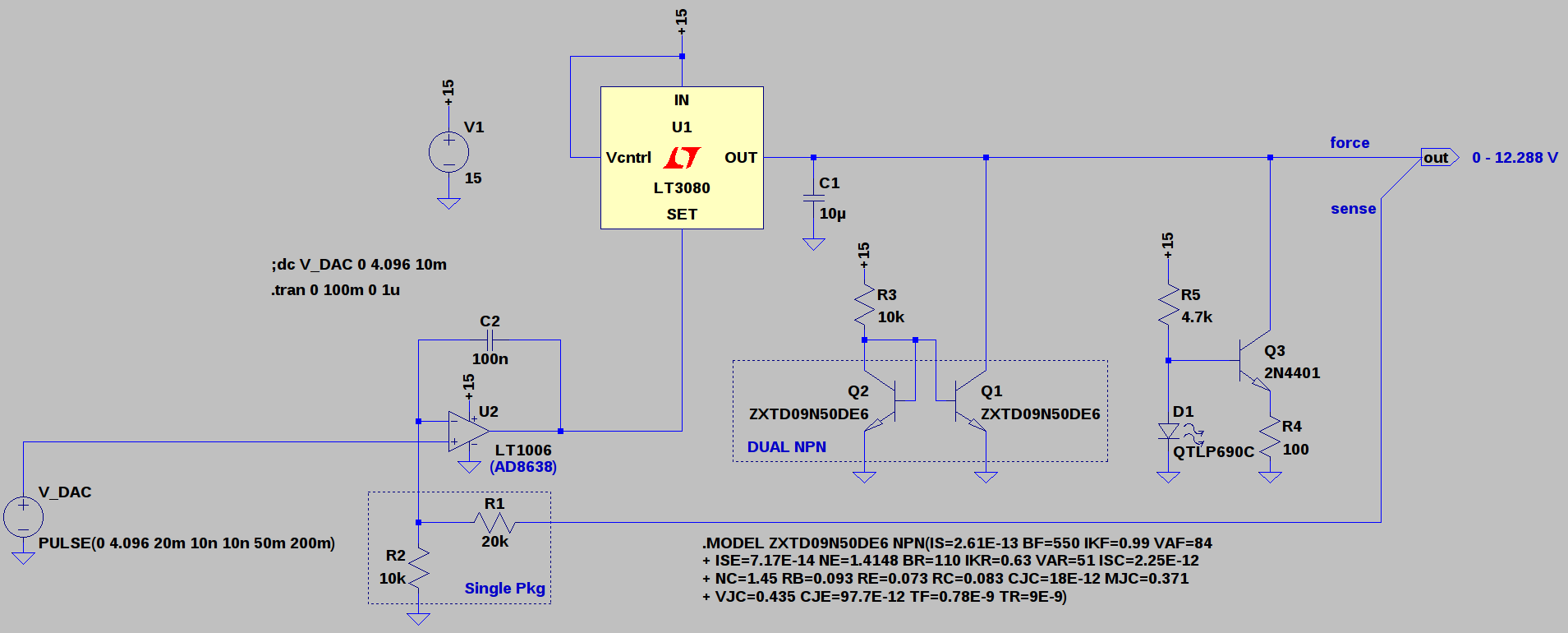 Automated Led Laser Diode Analysis And Modeling Dc Motor Speed Controller Circuit Diagram With Lm317 The First Prototype Used A 10 Bit Dac Driving An To Produce 125 1354v Supply 12mv Lsb Steps There Were Handful Of Things I Didnt Like