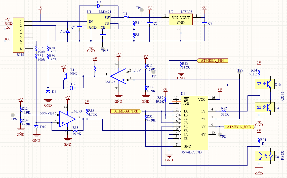 Outback Mate Reverse Engineering 3a Solar Charge Control Circuit Schematic The Pinout Of Is As Follows