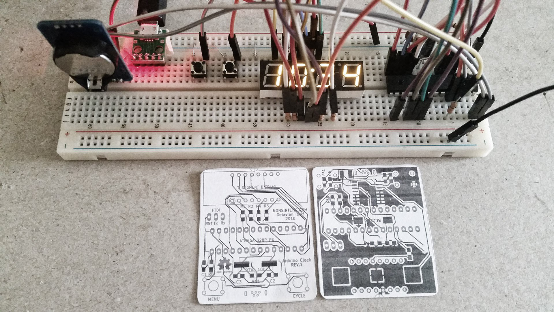 Yet Another Arduino Clock | Hackaday io