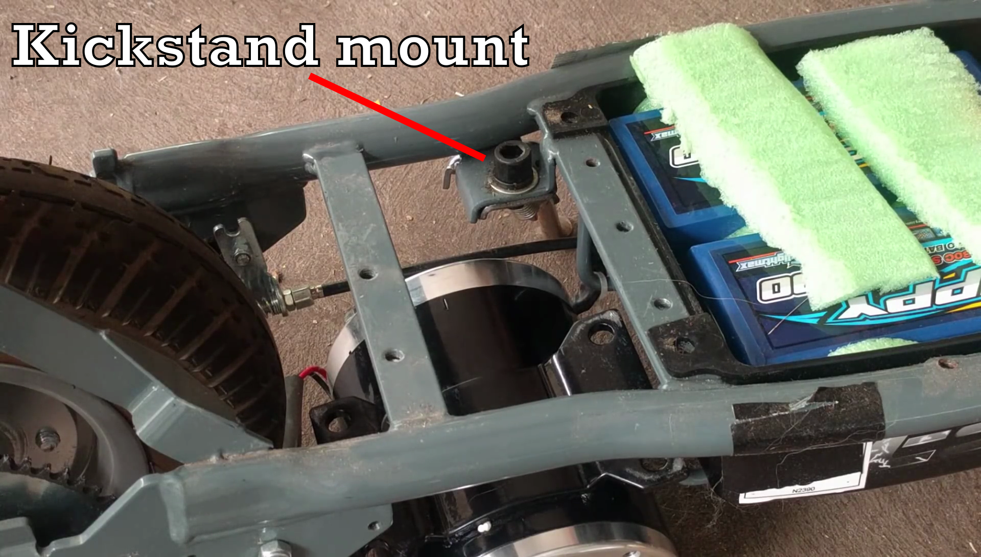 First to go was the kickstand - the mount was in the way of where FAT PRECIOUS MOTOR needed to be. It actually kinda sucked having to do this - the ...