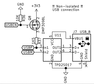 Missing external USB D+ pullup on STM32 powered PCB | Details