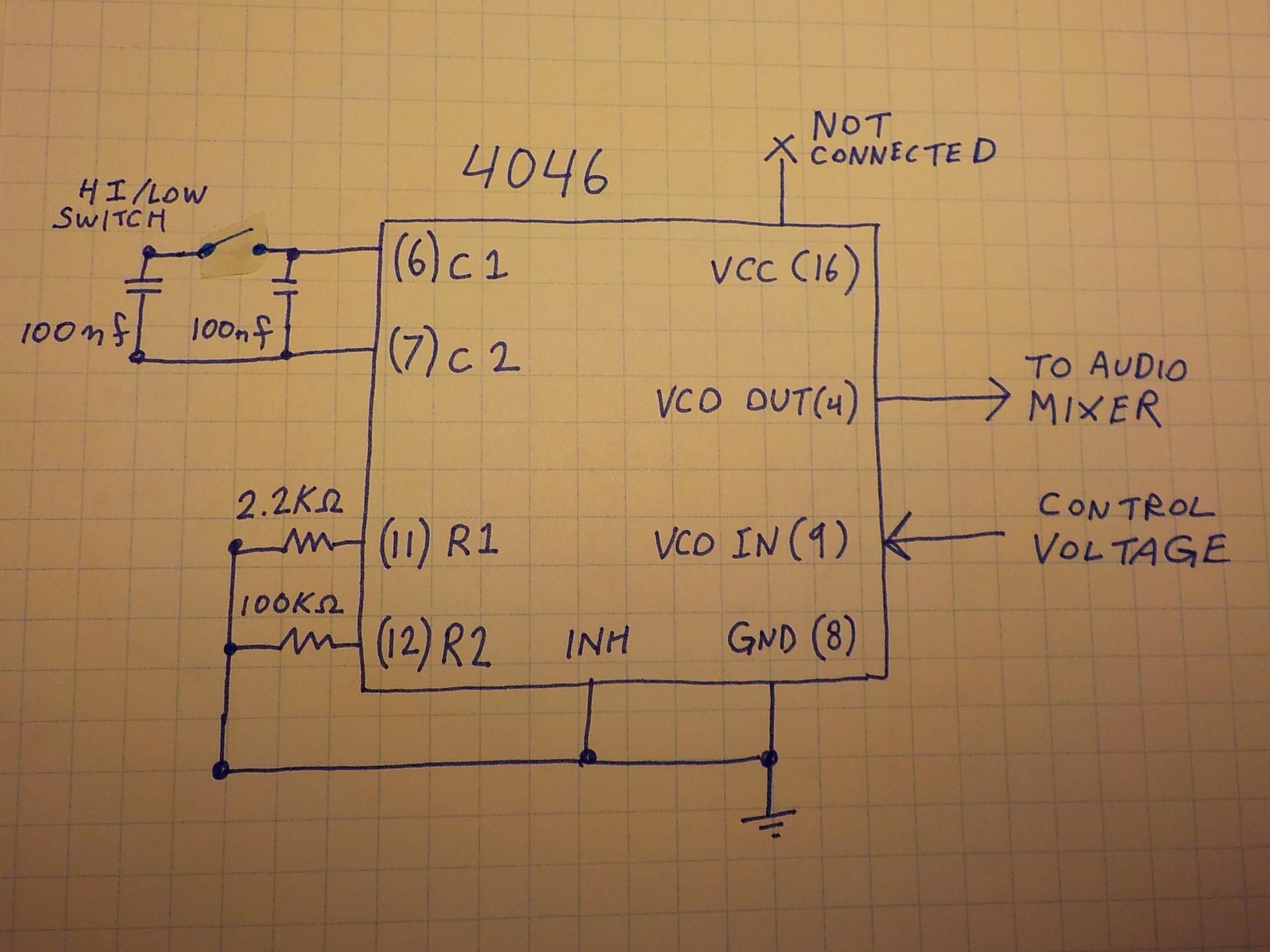 Project Zappotron Super Sequencer Audio Mixer Circuit Bad 4046