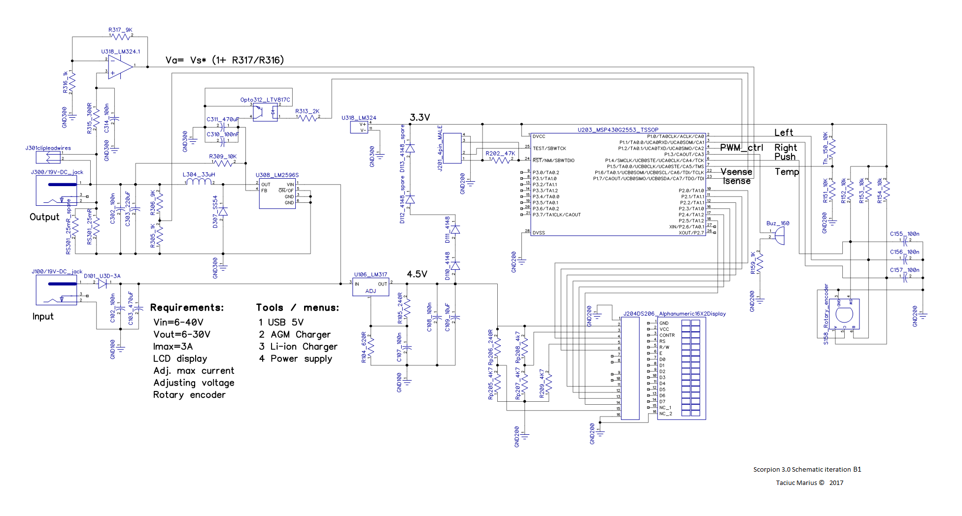 Lm317 Universal Battery Charger Circuit Design Electronic Project