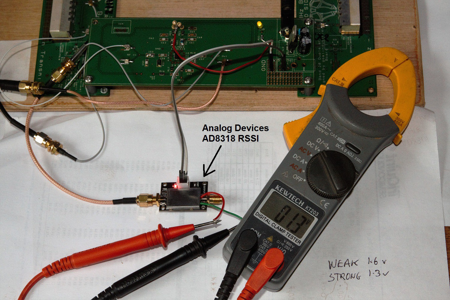 Project Cell Phone 4g Lte Repeater Booster Femtocell Usb Cable With Schematic The Rssi Was Inserted After Lna Circuit And Antenna Moved In Out Of A Faraday Cage Voltage Recorded Varied Between 16 13 Volts