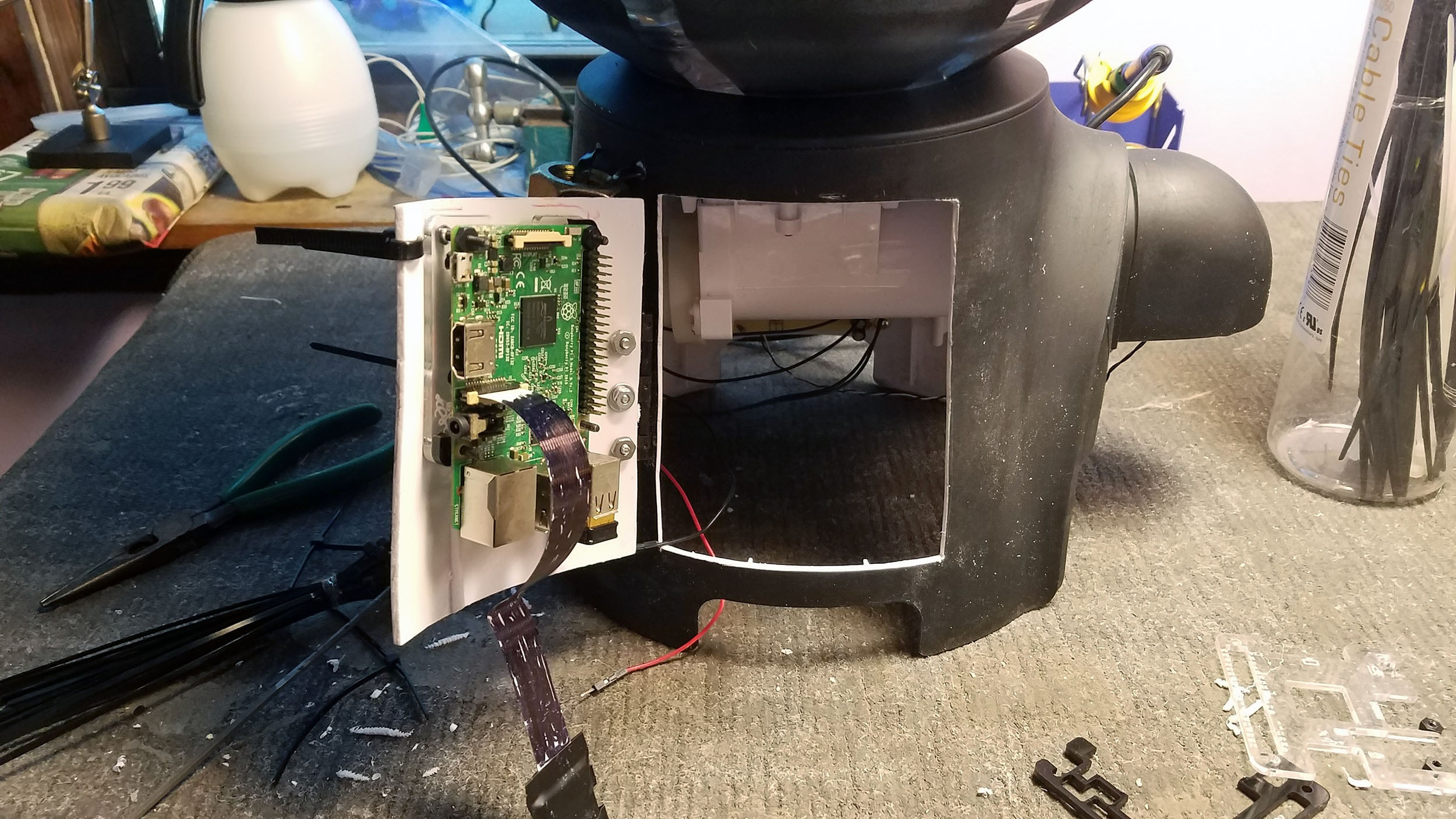 Instructions Magic Flute Of Rat Mind Control W Raspberry Pi Pcb Cutting Machine Sewing Modification Electronics Projects Case Lying Around And With A Little I Made It Fit The 3b Im Using For This Project How You Attach Isnt Important To