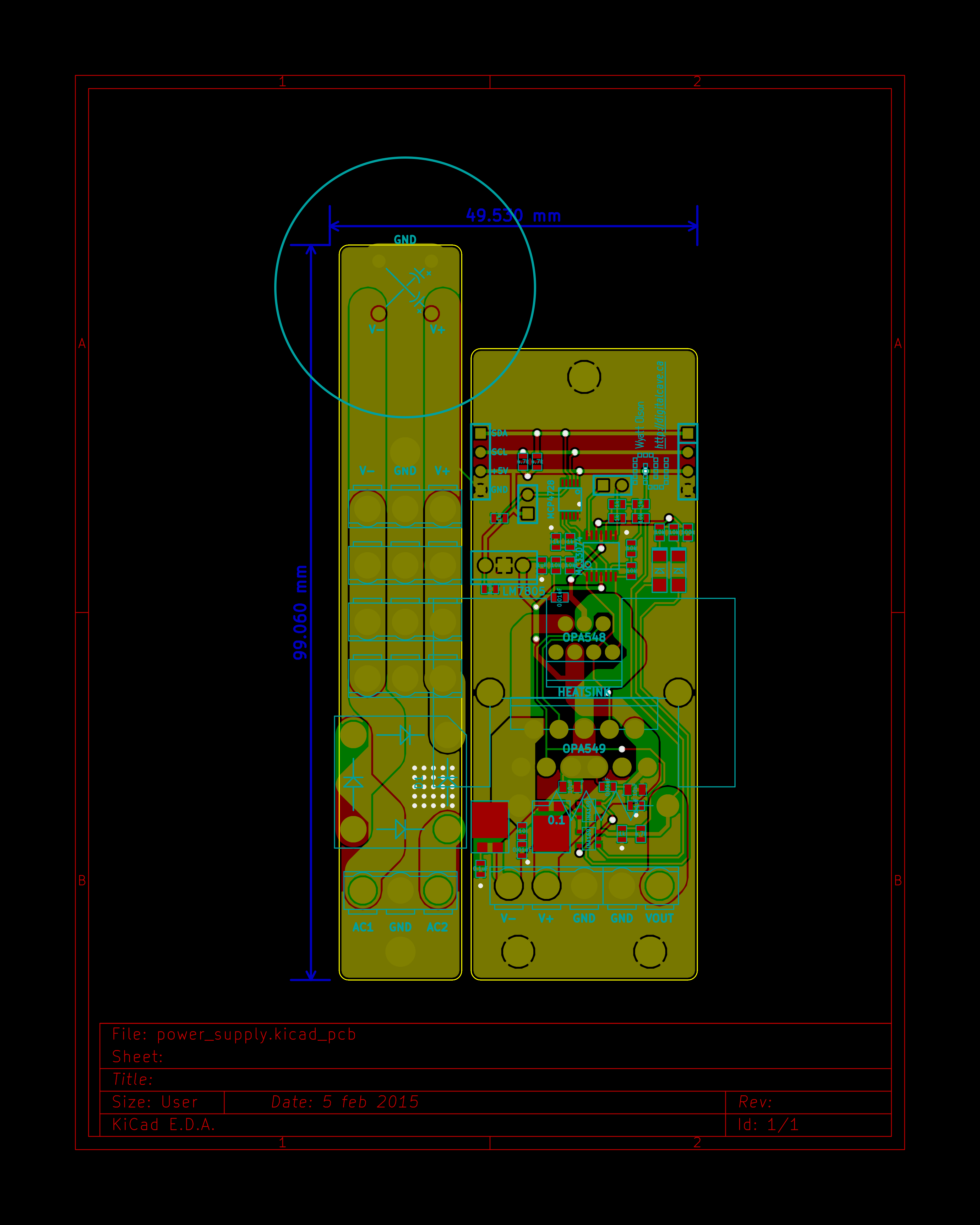 Project Bench Power Supply The Main Limitation In Circuit Simulation Digichip Is That You Can First Draft Of Schematic Completed Along With A Routed Board Coming At Just Under 5x10cm Sans Ubbb32u4 Controller Which Will Be