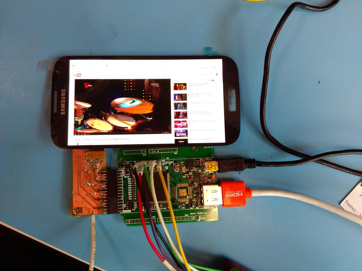 Galaxy S4 AMOLED screen working | Details | Hackaday io