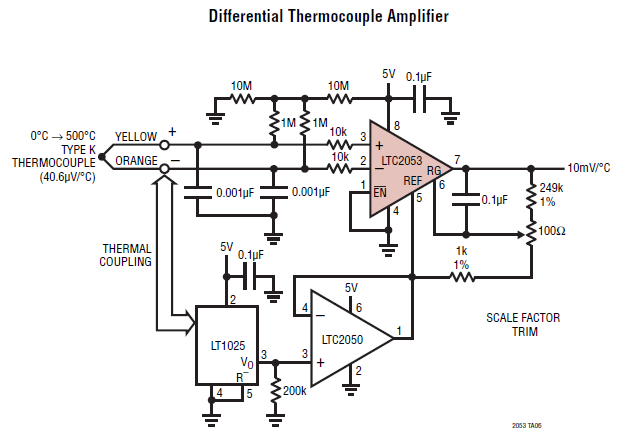 thermocouple amplifier for arduino and other mcu