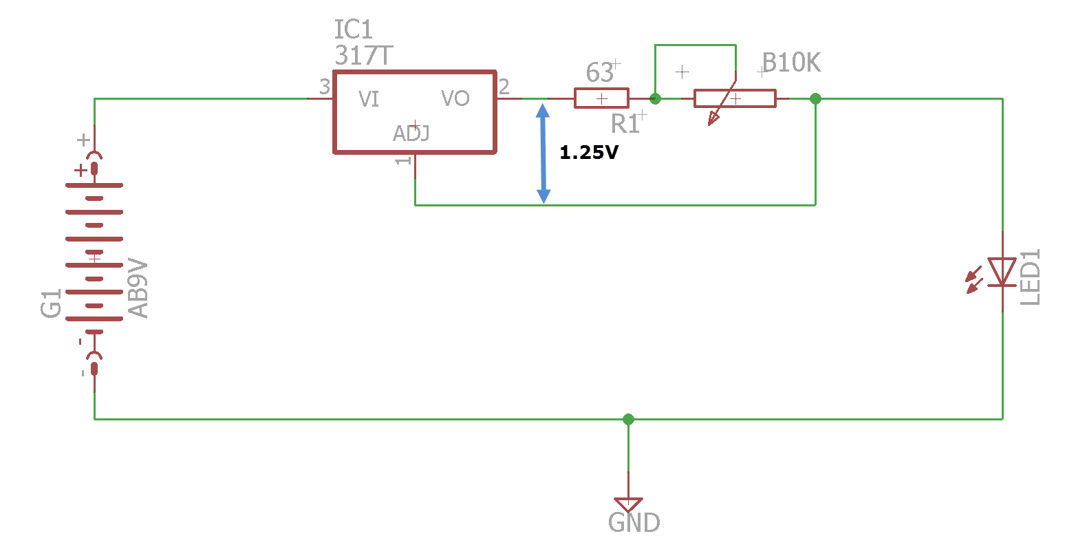 Testing My Leds Details Understanding This Lm317 Led Driver Circuit Electrical Engineering Forget For A Moment That The Pinout On Regulator Is Wrong Attached Eagle Project Files Are Correct Heres How It Works