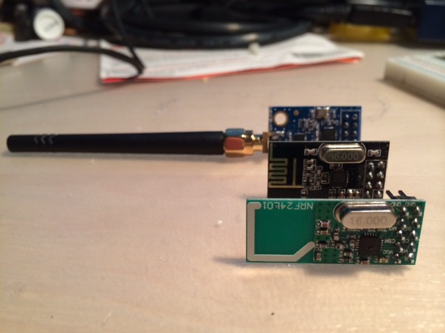 Wireless adventures using the NRF24L01+ | Details | Hackaday io