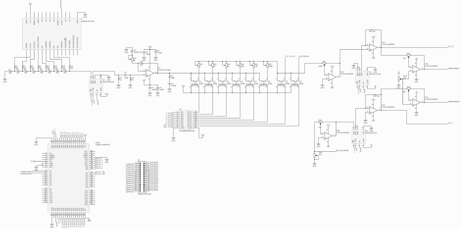 Microcontroller Based Curve Tracer X Y Recorder Block Diagram Version 3 Have 6 Voltage Ranges Resistance And Frequancy It Also Capable To Measure Two Channel Alternatly