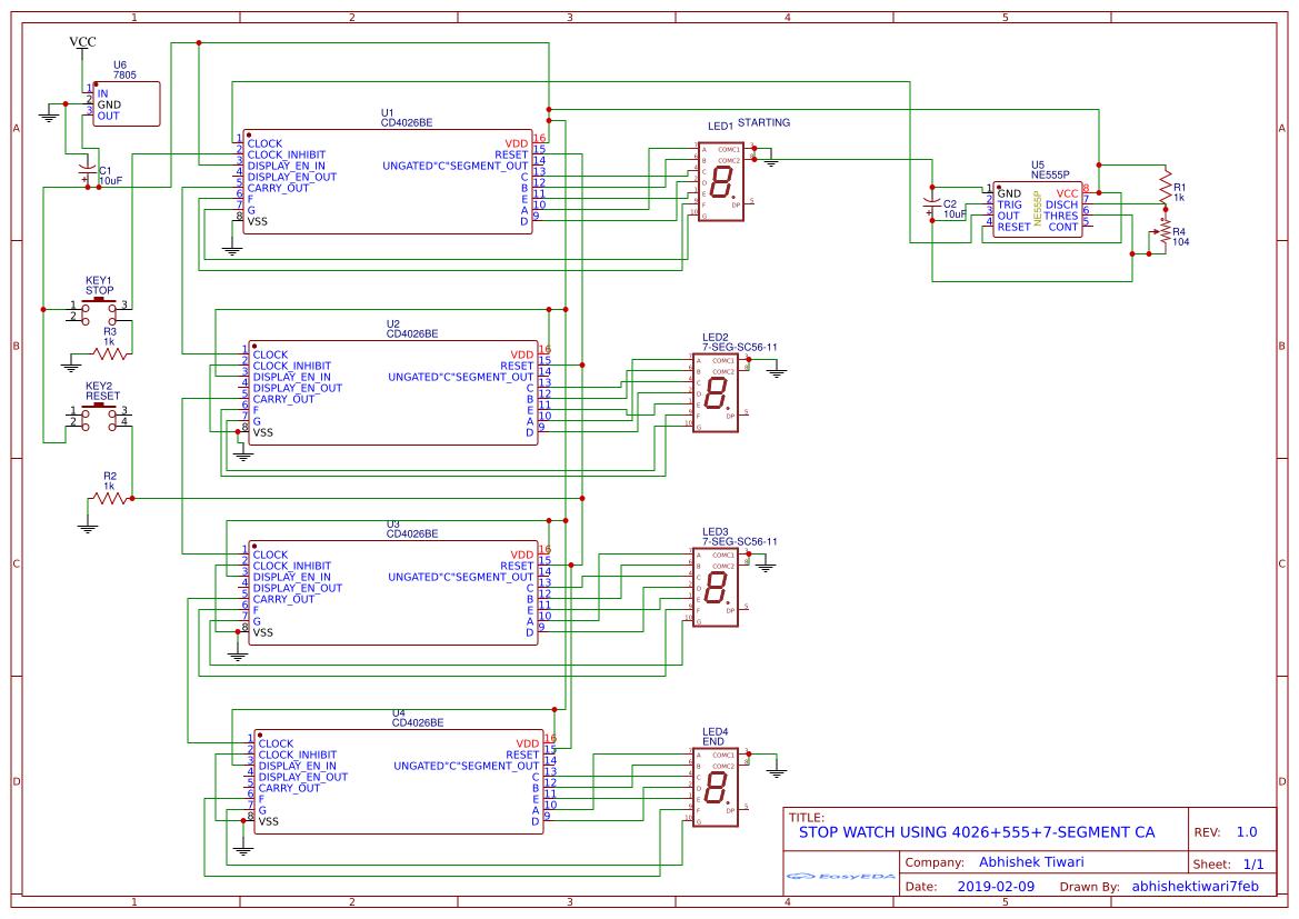 Terrific Digital Stopwatch Using 4026 555 7 Segment Hackaday Io Wiring Database Ittabxeroyuccorg