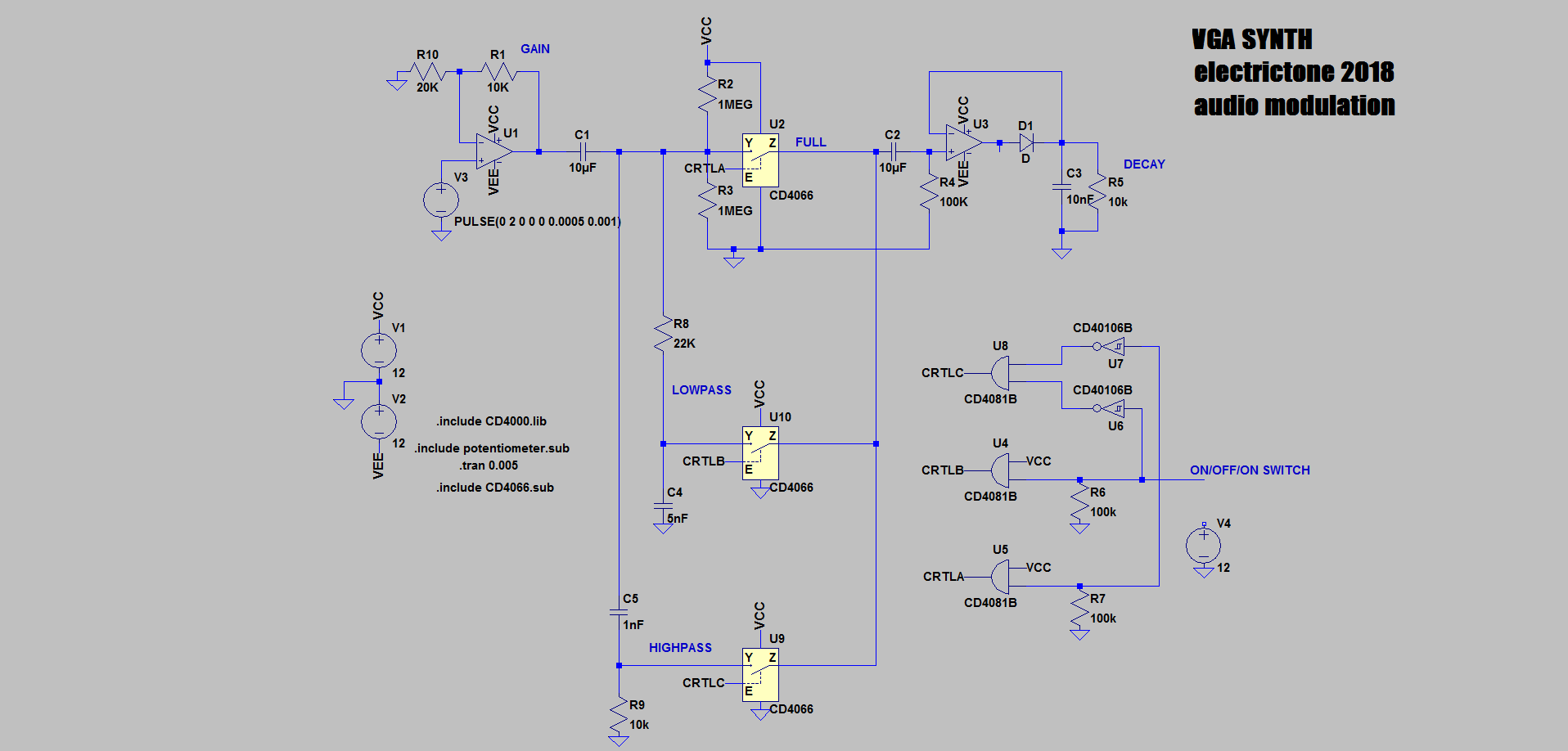 Audio Modulation Details Modulator Circuit Schematic Diagram Although Itd Be A Simpler Solution Both Circuits Are Not On The Same Board Which Will Create Need For