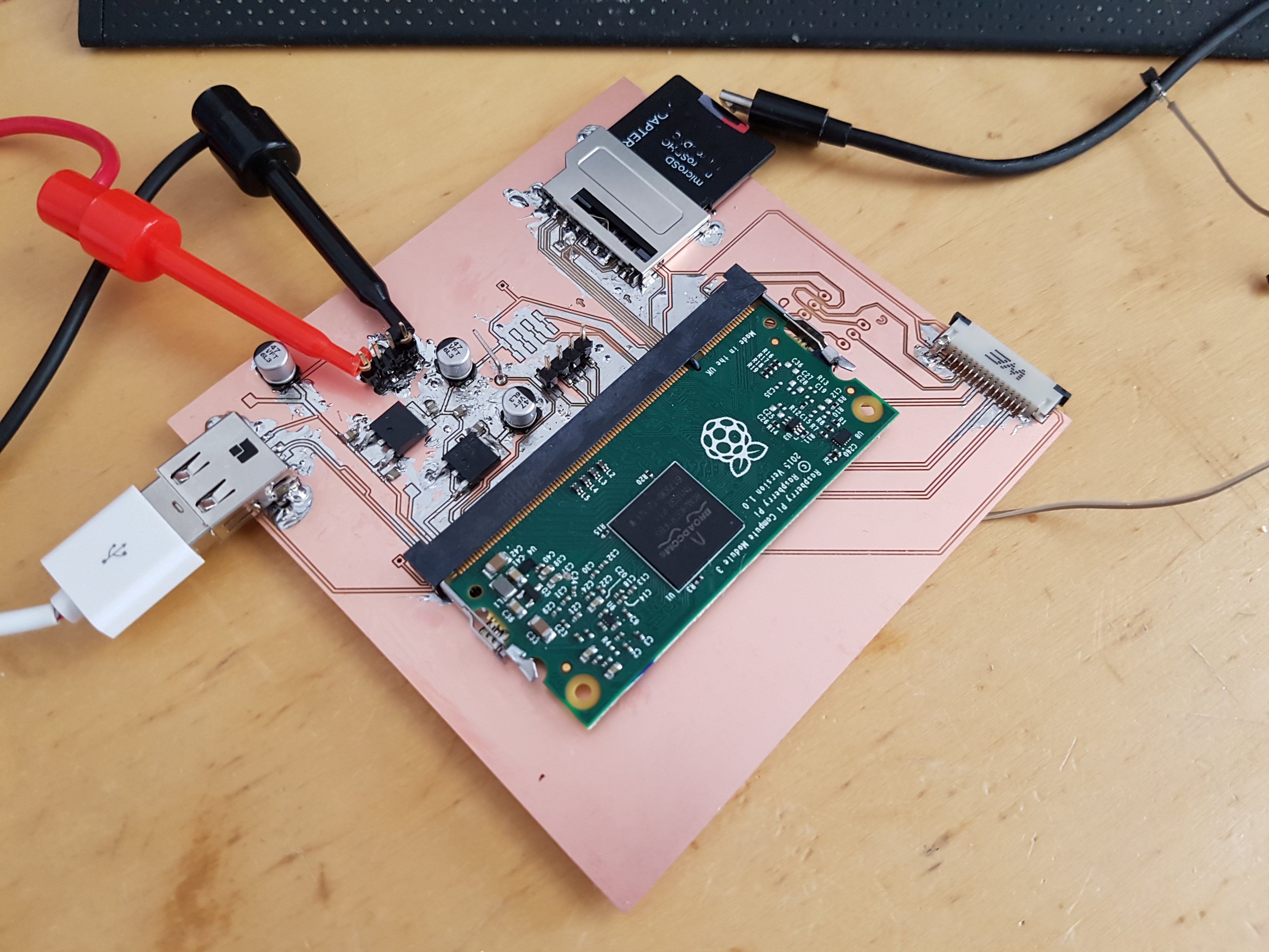 Excellent Gallery Crappy Raspberry Pi Compute Module Breakout Hackaday Io Wiring 101 Swasaxxcnl