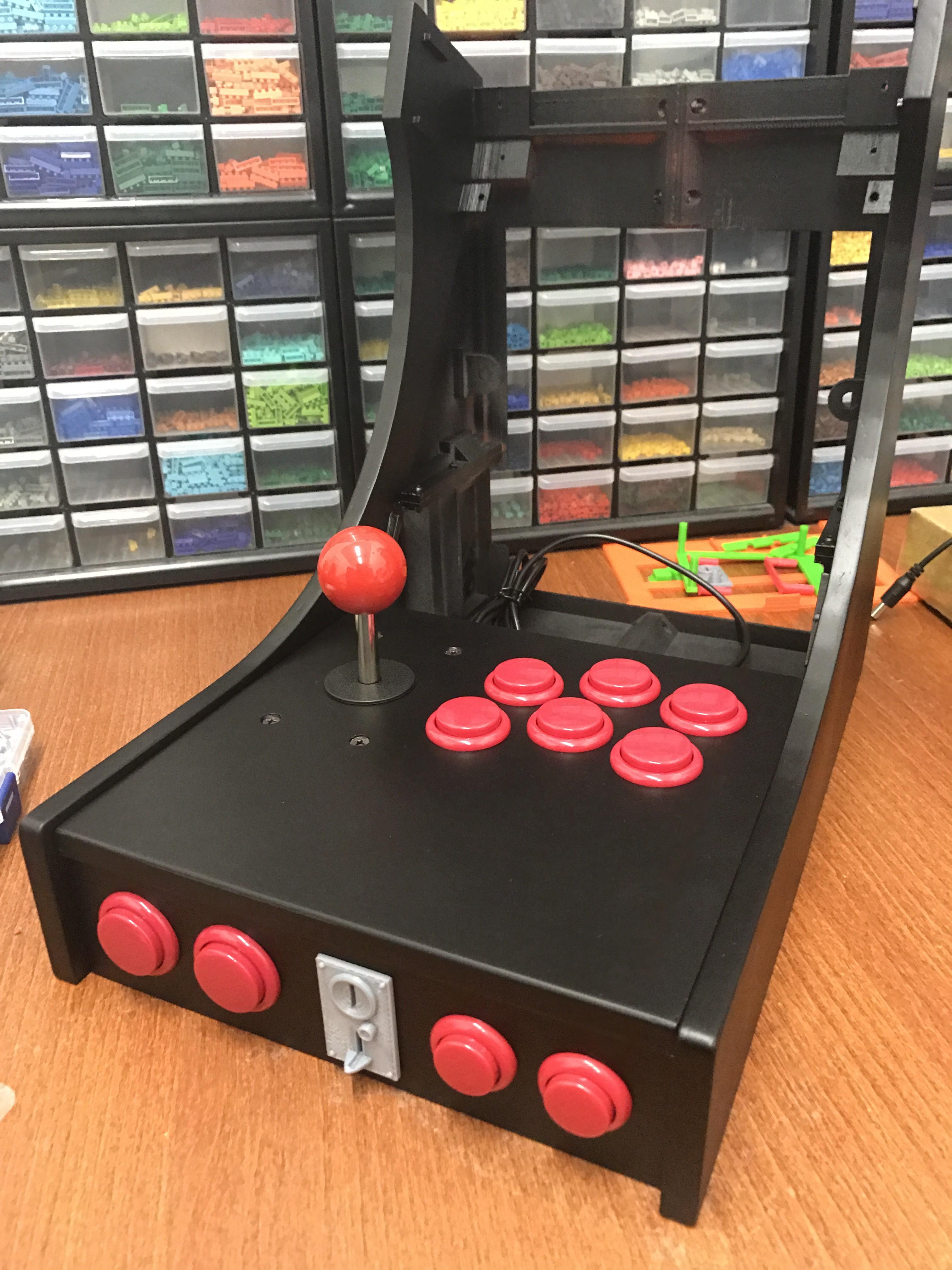 Desktop Arcade Machine : 3D Printed + RetroPie   Hackaday io