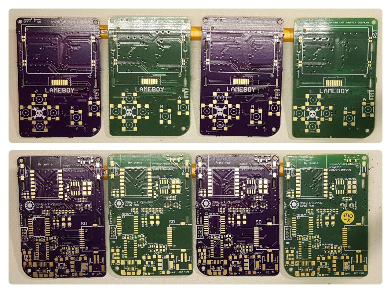 Davedarkos Pages Pcb Driving 10x10 Led Matrix With Avr Electrical Engineering As You Can See Here The Osh Park Silkscreen Had Some Issues In This 08mm Run C And Rst Labels Of Buttons Arent Printed Well Where Aisler