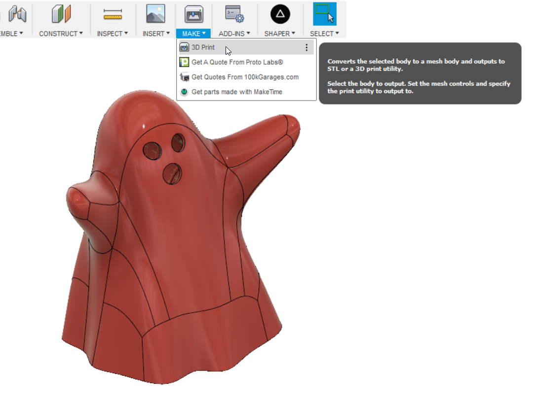 Exporting Multiple Bodies as 1 STL File-Fusion 360 | Hackaday io