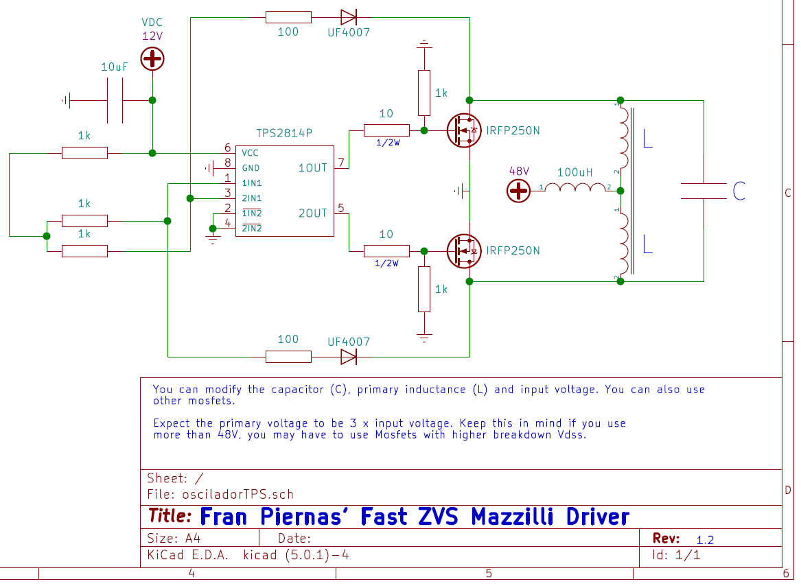 Piernas's Fast ZVS Mazzilli Driver   Hackaday io