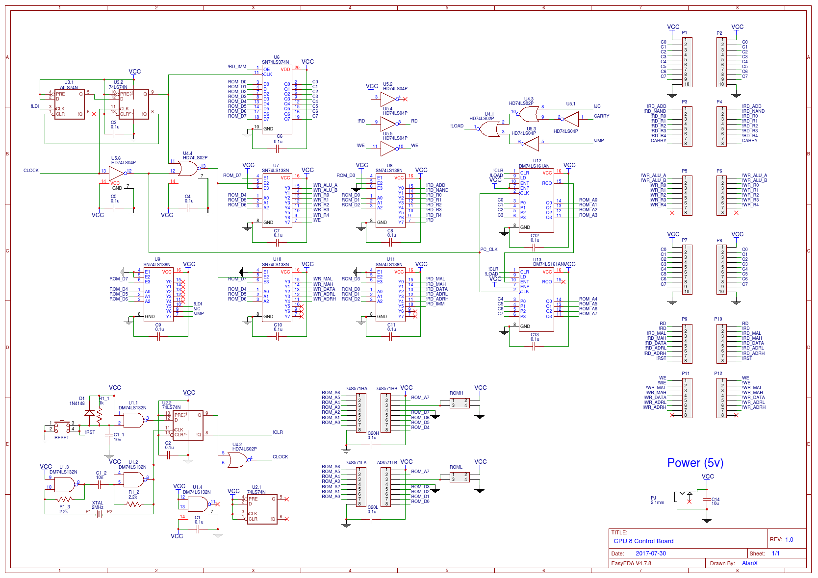 Pcbs Details Schematics And Note That The First Two Boards Will Piggy Back Off Control Board