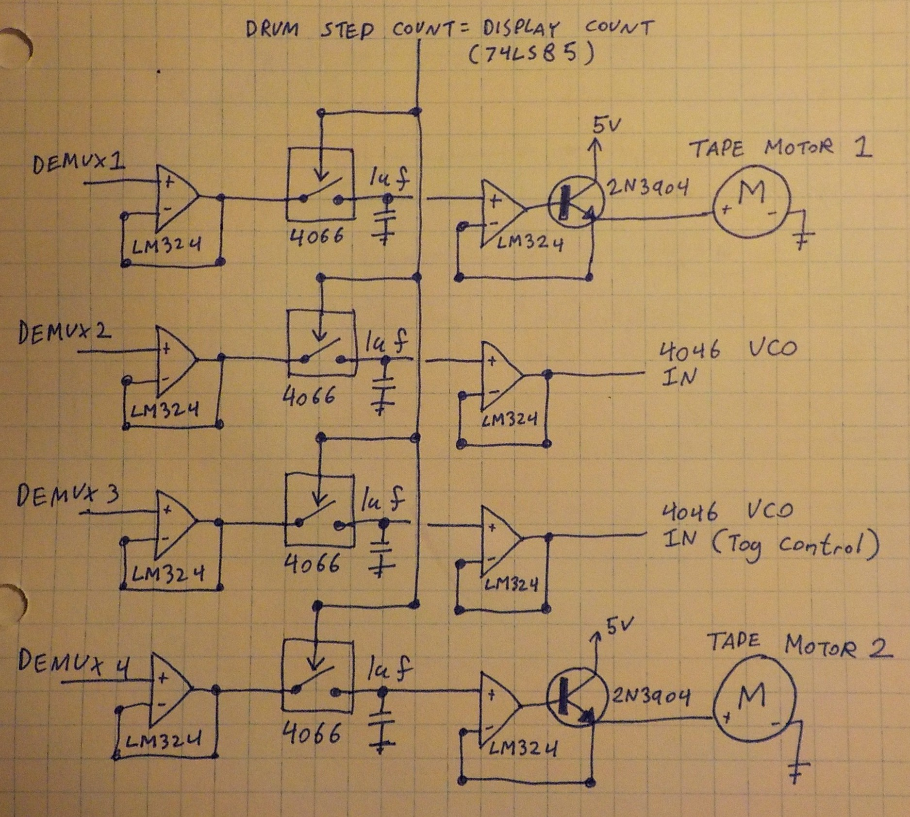Project Zappotron Super Sequencer Sound Detector Using Lm324 An Audio Op Amp Is Used Here Because It Doesnt Need To Handle A High Frequency Video Rate Signal