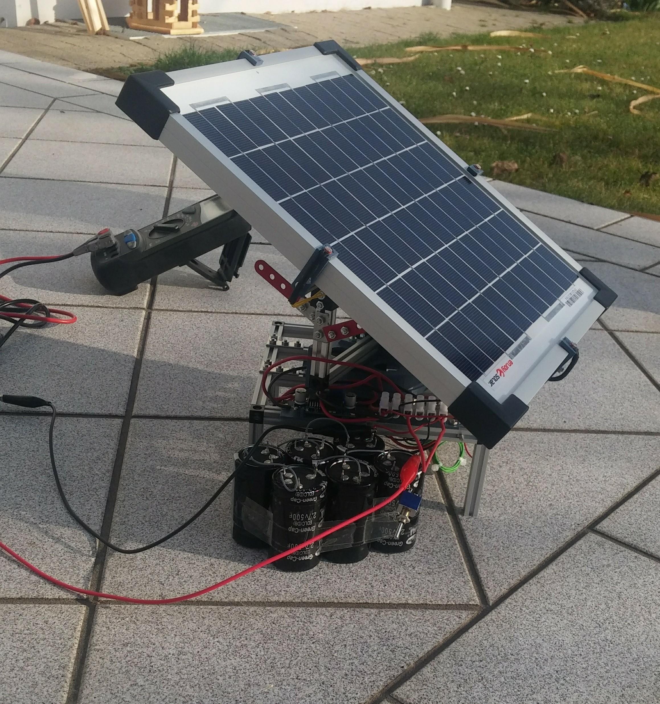 S3P ~ supercaps and solar panels ~   Hackaday io